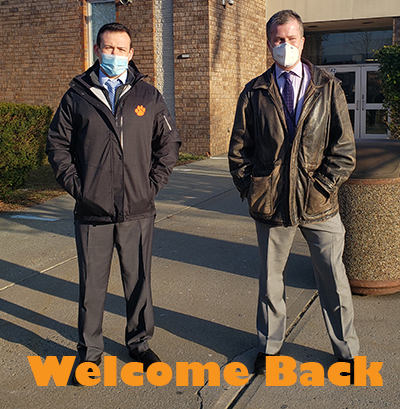 President and Vice Principal welcome students back
